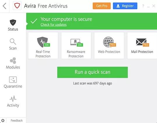 Avira Antivirus Pro License Key
