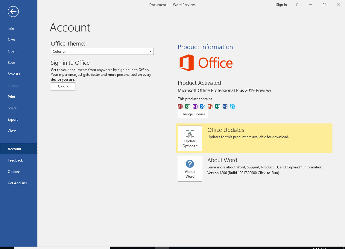 Microsoft Office 2019 Activation Key